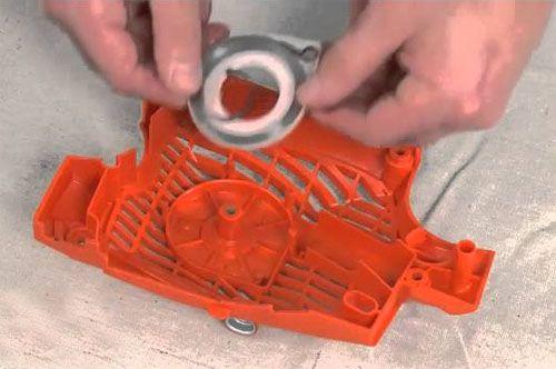 Как сделать кикстартер для бензопилы